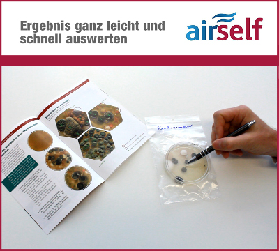 airself Schimmeltest Auswertung